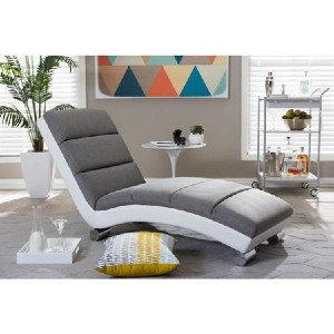 Shopango Percy Contemporary Leather Chaise Lounge - Best Lounge Chair for Back Pain: Modern Chaise Lounge