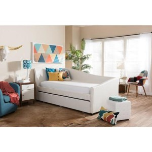 Shopango Vera Contemporary Leather Daybed - Best Daybeds for Small Spaces: Modern Look Daybed