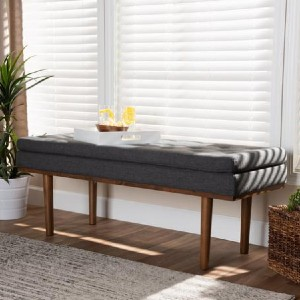 Shopango Arne Modern Upholstered Bench - Best Entryway Benches: Mid-Century Bench Design