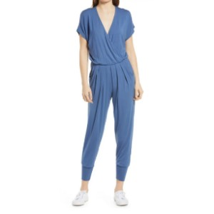 Loveappella Short Sleeve Wrap Top Jumpsuit - Best Casual Jumpsuit: Ready-for-anything jumpsuit