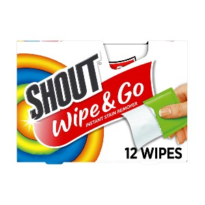 Shout Wipe & Go Instant Stain Remover - Best Laundry Detergents Stain Remover: Compact Package Remover
