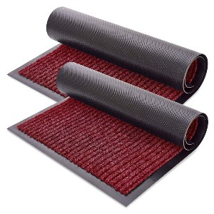 Sierra Concepts 2-Pack Front Door Mat Ribbed Red - Best Entryway Rug for Winter: Best for budget