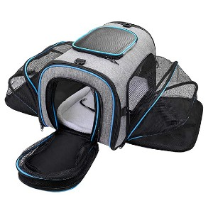 Siivton Airline Approved Pet Carrier - Best Pet Carriers for Cats: Expandable cat carrier