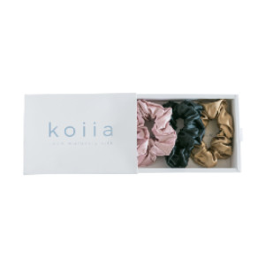 Koiia Silk Scrunchies Set - Best Scrunchies for Thick Hair: No Tugging, No Pulling, No Damage