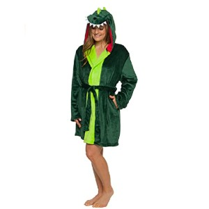 Silver Lilly Dinosaur Hooded Robe - Best Robes on Amazon: Cute Robe for Dino Obsessed