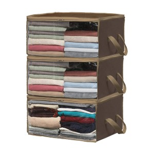 Simple Houseware 3 Pack Foldable Closet Organizer Clothing Storage Box - Best Storage Containers for Clothes: Best inexpensive pick