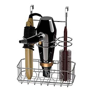 Simple Houseware Hair Dryer & Styling Tools Organizer - Best Bathroom Organizer: No more messy cables