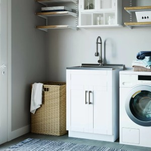 Simpli Home Freestanding Laundry Sink with Faucet - Best Laundry Room Sinks: Contemporary Sink