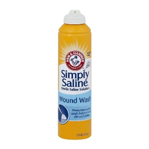Simply Saline Wound Wash - Best Cleaning Solution for Piercings: Dispenser Sprays Upside Down
