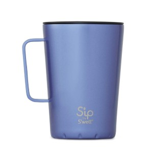 S'ip by S'well Stainless Steel Takeaway Mug  - Best Coffee Travel Mugs with Handle: Chic patterned design mug