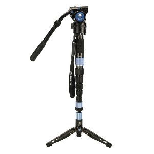 Sirui P-326SR Photo/Video Monopod with VH-10X Head - Best Monopods for Wildlife Photography: Replacable Bases Monopod