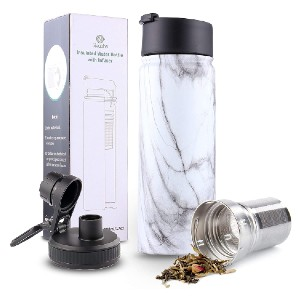 Sivaphe Infuser Travel Mug with Removable Tea Strainer - Best Travel Mugs for Tea: Wide mouth opening design