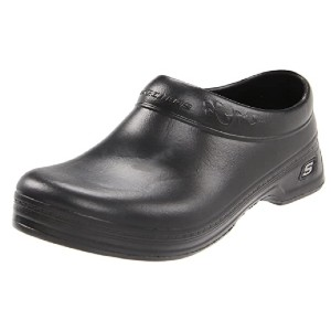 Skechers Women's Work: Oswald - Clara Clog - Best Clogs for Wide Feet: Soft Padded Footbed