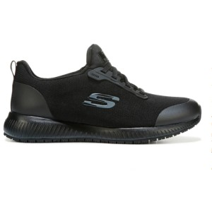Skechers Women's Squad Medium/Wide Slip Resistant Shoe - Best Safety Shoes for Womens: Stylish Shoes