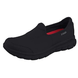 Skechers Women's Safety Shoes Work - Best Safety Shoes for Walking on Concrete: Slip-Resistant Work Shoes
