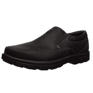 Skechers Men's Segment The Search Slip On Loafer - Best Safety Shoes for Walking on Concrete: Men's Leather Work Shoes