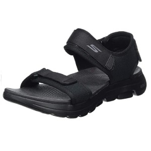 Skechers Men's GOwalk 5 - Best Sandals for Wide Feet: Sporty Sandal
