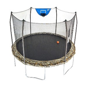 Skywalker Trampolines 12-Foot Jump N' Dunk Trampoline - Best Trampoline with Basketball Hoop: For more than one jumper
