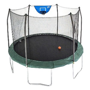 Skywalker Trampolines 12-Foot Jump N' Dunk Trampoline - Best Trampoline Backyard: More fun with basketball