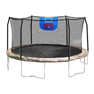 Skywalker Trampolines 15 Foot Jump N Dunk Round Trampoline  - Best Trampoline for Kids and Adults: Best no-screen time killer