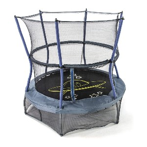 Skywalker Trampolines Mini Trampoline with Enclosure Net  - Best Trampoline Under $300: With a series of space sounds