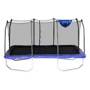 Skywalker Trampolines Rectangle Jump-N-Dunk Trampoline  - Best Trampoline with Basketball Hoop: Great for large yards
