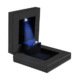 LinkIdea Slim Engagement Ring Box with LED Light - Best Engagement Ring Box with Light: Damage-free