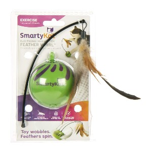 SmartyKat Feather Whirl Electronic Motion Cat Toy - Best Cat Toys Interactive: Automatic Feather Whirl
