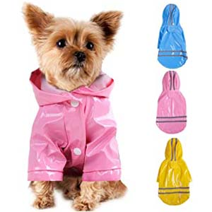 Smoro Outdoor Puppy Pet Rain Coat with Hood - Best Raincoats for Corgis: Right size, right material, right price