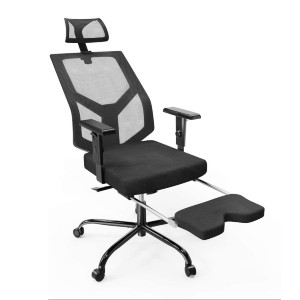 Smugdesk Mesh Ergonomic Chair Adjustable Armrest/Headrest Rotating Chair with Footrest Lounge Chair - Best Office Chair Under $300: Support Back and Foot