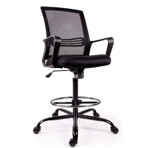 Smugdesk Mesh Drafting Chair Tall Office Chair for Standing Desk - Best Office Chair Under $300: 360-Degree Swivel and Height Adjustment