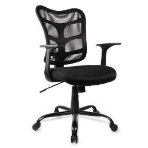 Smugdesk Ergonomic Mid Back Mesh Office Chair Black - Best Office Chair Under $300: Adjustable Lever and Sturdy Material