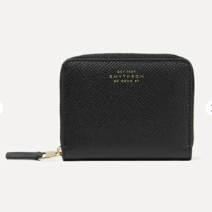 Smythson Panama textured-leather wallet - Best Wallet for Women: Mini wallet for organize your little things
