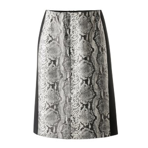 Creation L Snake Print Faux Leather Skirt  - Best Skirts for Pear Shape: Button Fastening with Zip
