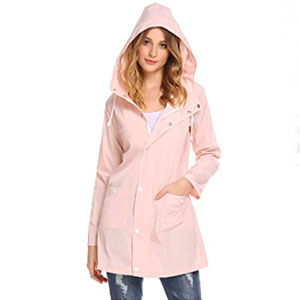 SoTeer Womens Lightweight Raincoat - Best Raincoats for Travel: Casual style design rain jacket