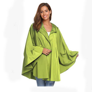 SoTeer Rain Poncho for Womens Batwing-Sleeved  - Best Raincoats for College Students: Cute and Stylish Raincoat
