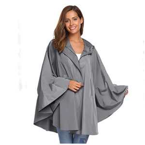 SoTeer Store Hooded Raincoat Waterproof Packable - Best Raincoats for Festivals: The Batwing-Sleeve Raincoat