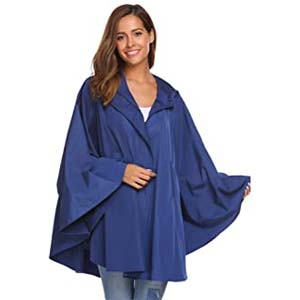 SoTeer Womens Rain Poncho Batwing - Best Raincoats with a Suit: It will cover your belongings