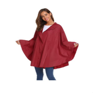 SoTeer Rain Poncho for Womens Batwing-Sleeved - Best Raincoats for Women: Extremely Water Resistance with Fresh Feeling Raincoat