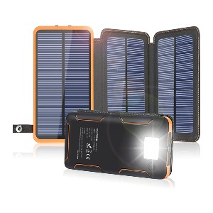 FEELLE Solar Charger 24000mAh - Best Solar Panel for Backpacking: No more low battery