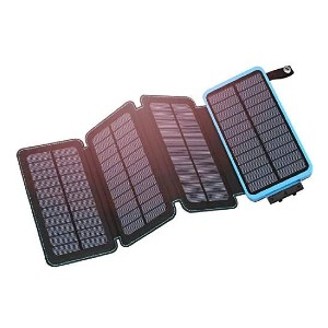 Hiluckey Solar Charger 25000mAh  - Best Solar Panel for Backpacking: Up to 9 days of power