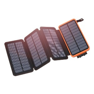 Hiluckey Solar Charger 25000mAh - Best Power Station Portable: Lightweight and foldable