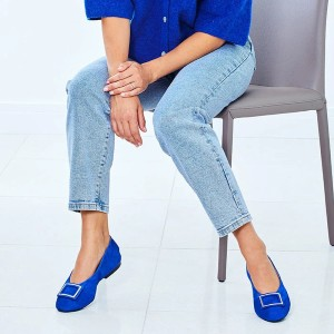 Sole Bliss Lizzie: Royal Suede - Best Flats for Bunions: Flats with Elasticated Back