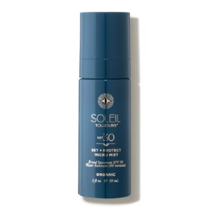 Soleil Toujours Organic Set + Protect Micro Mist SPF 30 - Best Sunscreen Spray for Face: Organic Sunscreen Spray