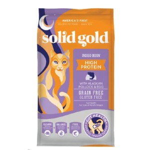 Solid Gold Indigo Moon High Protein Wild Alaskan Pollock & Eggs Recipe Grain-Free Dry Cat Food - Best Food for Cat to Gain Weight: Easy to Digest Food