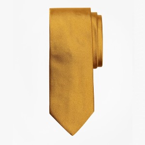 Brooks Brothers Solid Rep Tie  - Best Ties for Checkered Shirts: Look great effortlessly