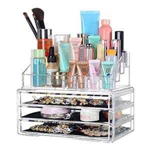 SortWise 3 Drawers Acrylic Makeup Organizer - Best Bathroom Organizer: With three drawers