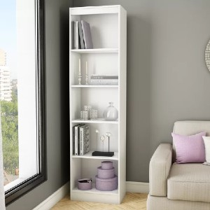 South Shore Axess Standard Bookcase - Best Bookcases for Small Spaces: Sleek Contemporary Bookcase