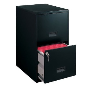Space Solutions Filing Cabinet 2-Drawer Steel File Cabinet with Lock - Best File Cabinets for Home Office: High Drawers File Cabinet