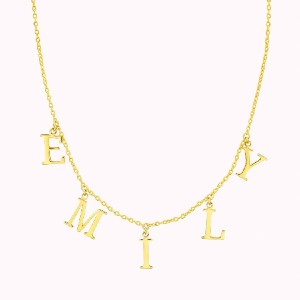 Sparklane Name Chain (Serif) - Best Chain Necklace: Nameplate Chain Necklace